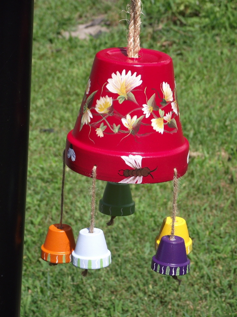 clay pot wind chimes this n that crafts commercial