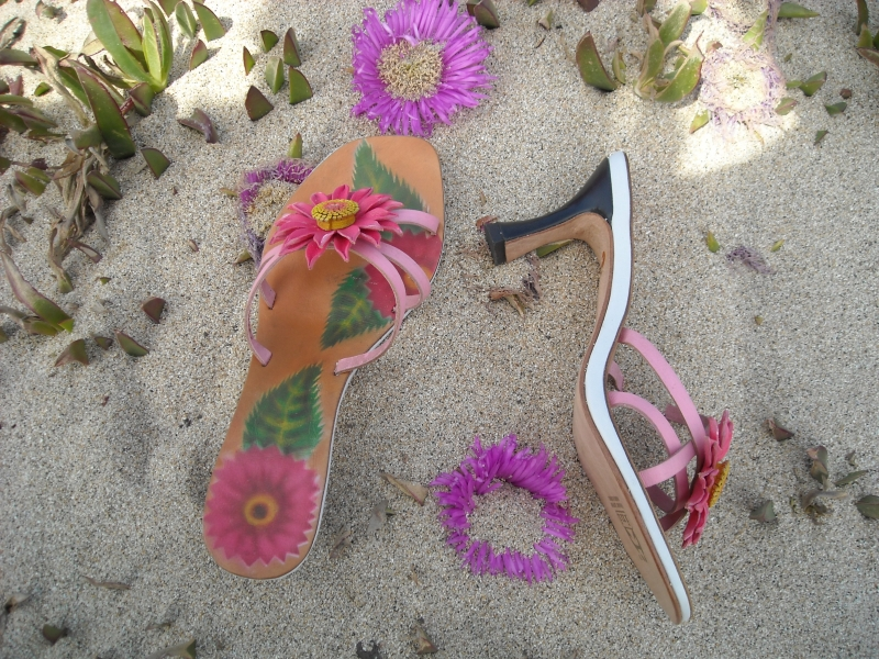 Handpainted Sandals (FLower)