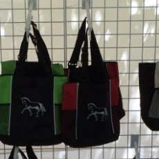 Tote with Mesh Side Panels, with Horse Design & Crystals