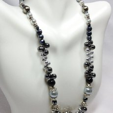 Shades of silver necklace