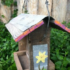 Reclaimed Barn Wood Bird Feeder