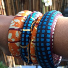 Layers of bangle bracelets
