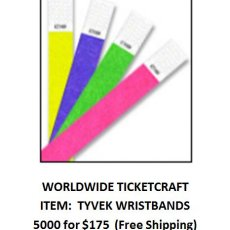 5000 Tyvek Wristbands