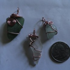 Sea Glass or Mermaid's Tears, All Natural Hand Gathered and Wire Wrapped
