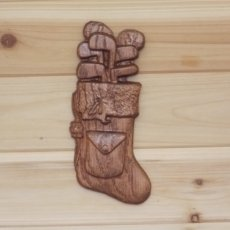 Golf Clubs Christmas Stocking Wood Decoration