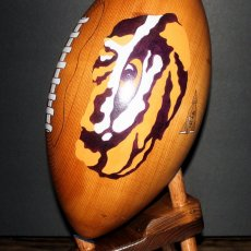 Handmade Custom Wooden Footballs with Hand Painted Logos