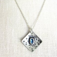 London Blue Topaz Silver Design Necklace