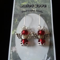 Angel Earrings, Red