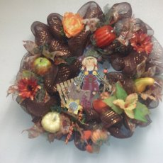 Fall Harvest Deco mesh wreath