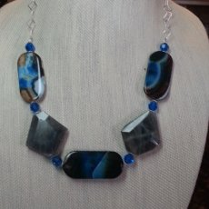 African agate necklace