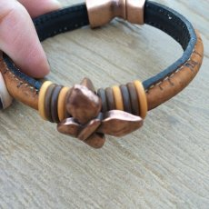 Handmade Genuine Leather Butterfly bracelet