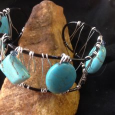 Wire Wrapped Cobachon Bracelet