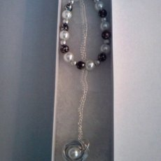 Pearl Birds Nest Necklace and Bracelet Set