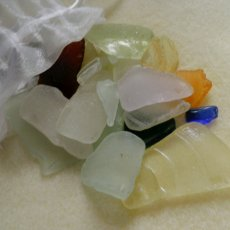 Maine Sea Glass Pieces,Bag of Assorted Natural Handgathered