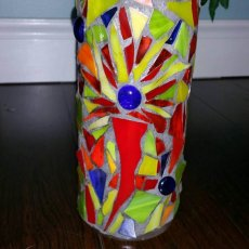 Stained Glass Vases- You choose the colors!!