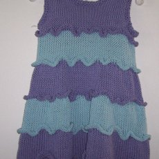 Ruffled knitted dress