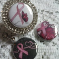 Pink Ribbon Interchangeable Bling ID Badge Holder