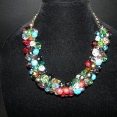 Colorful all bead statement necklace