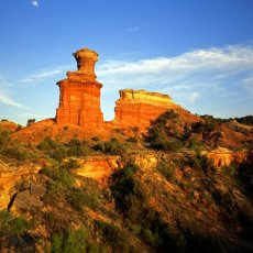 lighthouse formation in palo duro caynon in tx