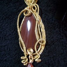 Moolite and Red Jasper Tear Drop
