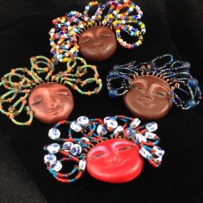 Crazy Hair Lady Brooches