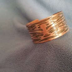 Copper Bracelet with Mystic Design