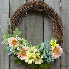 Spring Floral Grapevine Wreath