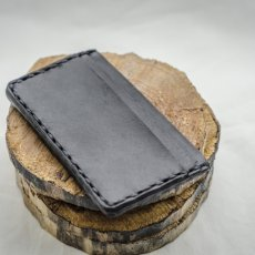 Hand made, Full Grain Cowhide, sideways card holder