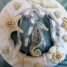 White Beach Wedding wreath