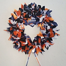 Handmade Denver Broncos Wreath by Logan Street Originals