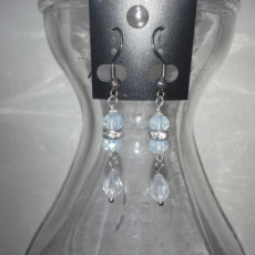 12 Pair Crystal Dangle Earrings