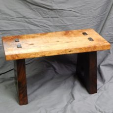 cherry and walnut bench