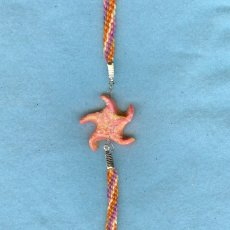 Orange and Pink Starfish Bracelet