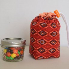 Orange Diamonds Jar To Go Bag - 1/2 Pint