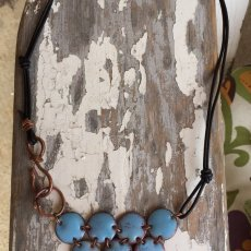 Fire Torch Enameled Copper Penny Necklace