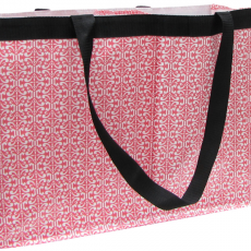 2-Trunk Tote - Coral White Damask