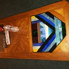 Stained glass coffee and end tables