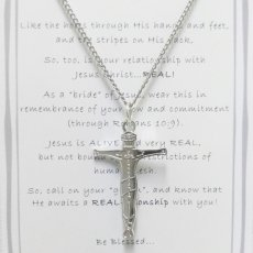 """Jesus """"REAL-ationship"""" (real relationship) cross necklace"""