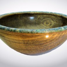 Hackberry & Blue Calcite Inlay Bowl #529