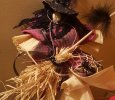 corn husk dolls with dream catchers. all hand made but fabruc
