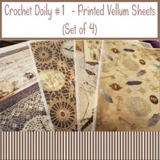 Crochet Doily Printed Vellum Sheets - (Set of 4)