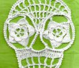 Blanca Day of the Dead Crochet Applique