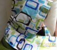 Geometric Shapes Hooded Bath Towel and Matching Washcloth set