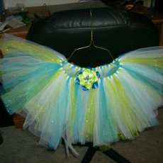 Turquoise and Lime sparkle TuTu