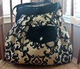 Mini Damask Hobo Bag