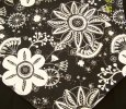 Handmade Black & White 36 In. Floral Decor Table Runner