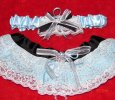 Edgy Something Blue Garter Set