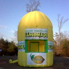 INFLATABLE LEMONADE CONCESSION STAND CART KIOSK TRAILER
