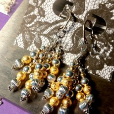 Chandelier Gold and Silver Earings
