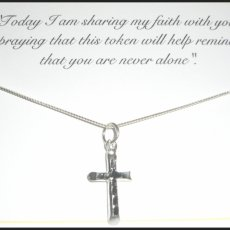 My Shared Faith Card and Sterling Silver Cross Necklace